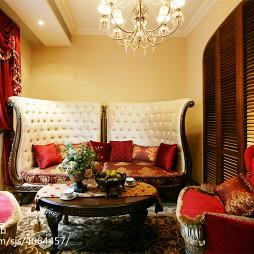 别墅混搭风格客厅图片