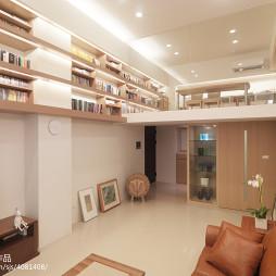 二居室现代客厅书柜装修效果图