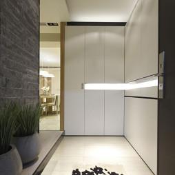 二居现代玄关鞋柜设计