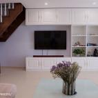 小户型美式客厅电视背景墙装修设计