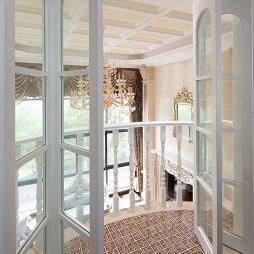复式楼欧式书房阳台装修设计