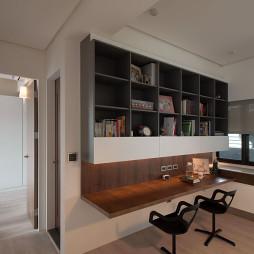 混搭简约书房书柜设计