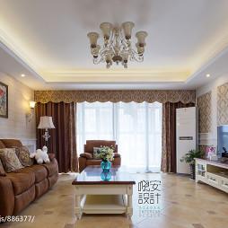 三居室现代客厅吊顶图片