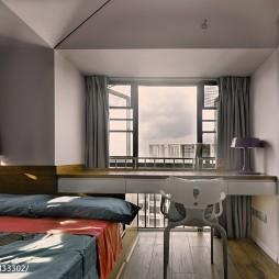 混搭卧室窗台样板房图片