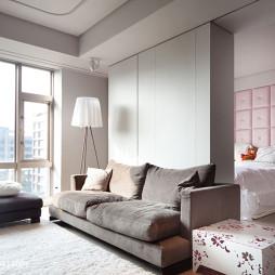 新古典客厅落地窗设计