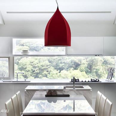 现代风格餐厅窗台效果图