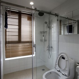 混搭卫生间玻璃隔断样板间设计