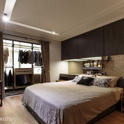 21坪住宅混搭卧室衣帽间设计效果图