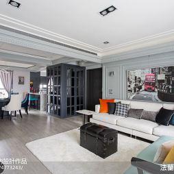 现代美式客厅吊顶设计效果图