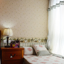 美式卧室窗帘图片