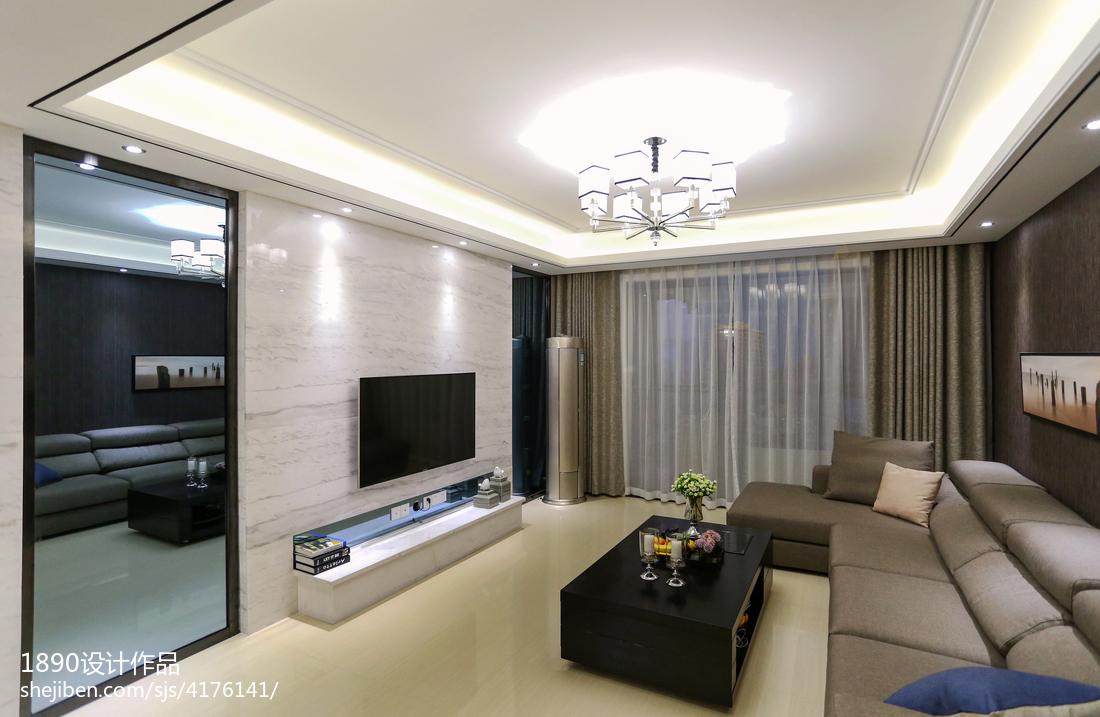 中式风格餐厅背景墙_爵士灰调现代客厅大理石电视背景墙效果图 – 设计本装修效果图