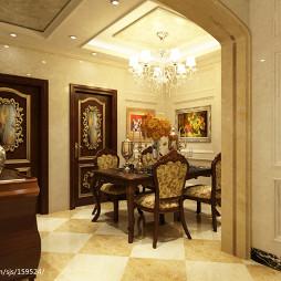 客餐厅简欧吊顶装修效果图图片