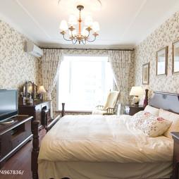 田园美式卧室背景墙装修设计