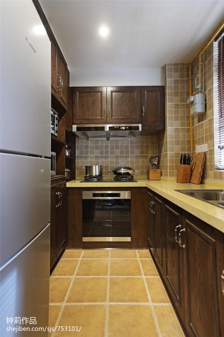 复古美式厨房设计