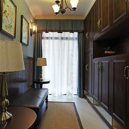 复古美式玄关鞋柜设计