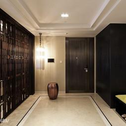 中式玄关隔断样板房设计