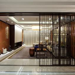 中式风格玄关隔断样板房设计