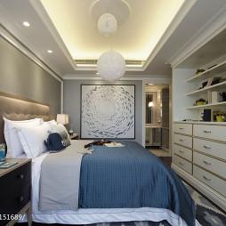 欧式卧室储物柜样板房设计