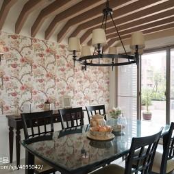 混搭田园餐厅背景墙装修设计