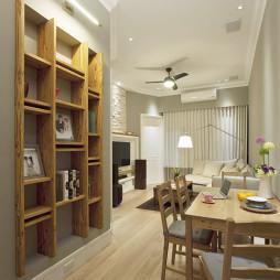 美式生活宅餐厅博古架装修设计