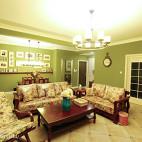 清新美式客厅吊顶装修设计