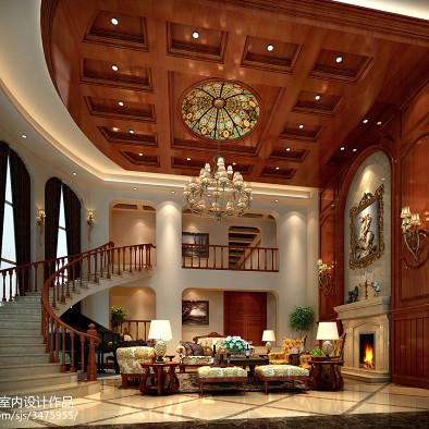 星河丹堤美式别墅设计效果图案例_2055325