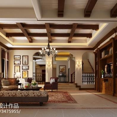 水榭山美式别墅设计效果图案例_2055446
