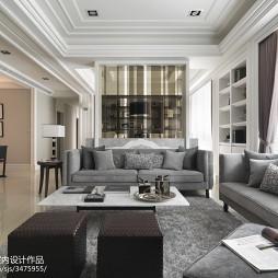 欧式风格客厅样板房设计图片