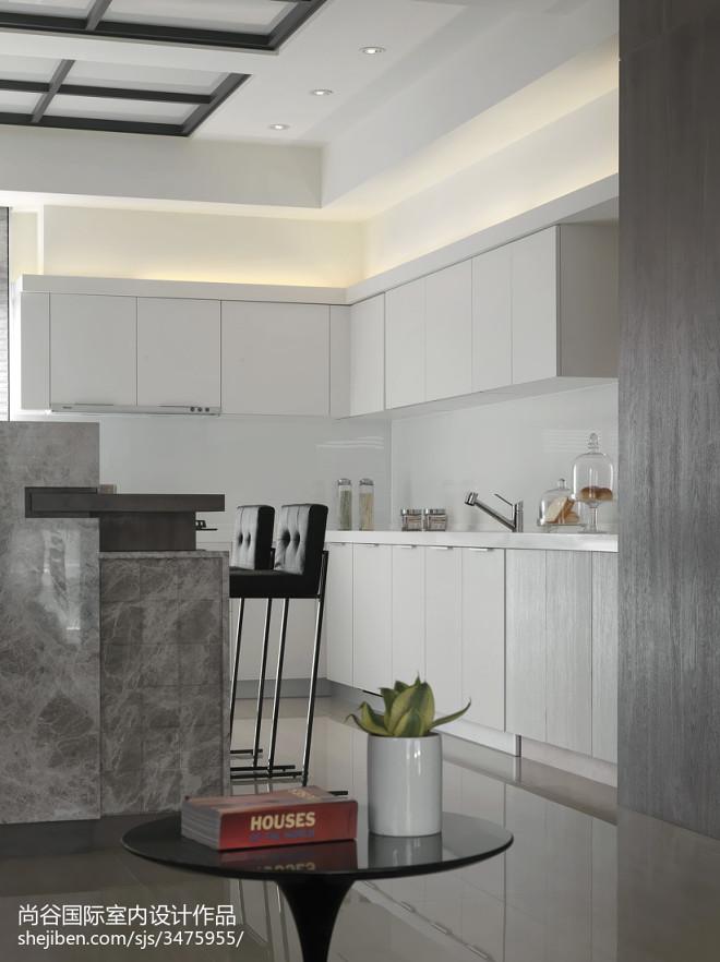 简欧风格厨房样板房设计实景图