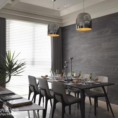 简欧风格餐厅样板房设计实景图