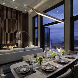 混搭餐厅落地窗别墅设计