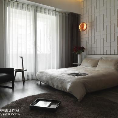 中式卧室窗帘样板间设计实景图
