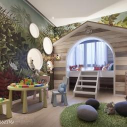 混搭风格儿童房装修效果图片