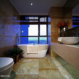 混搭风格浴室装修效果图