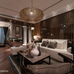 日式客厅样板房设计
