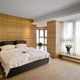 简约混搭卧室落地窗设计