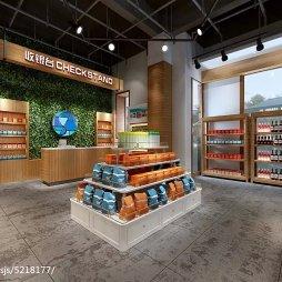 进口食品超市收银台设计