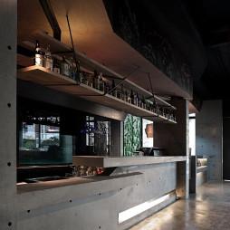 混搭复古餐厅柜台设计