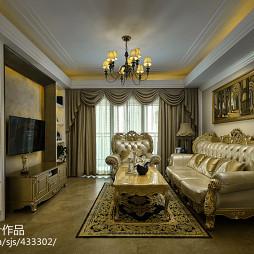 欧式风格客厅电视柜设计