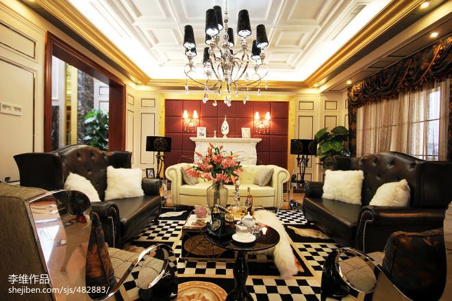 欧式别墅客厅装修图片汇总