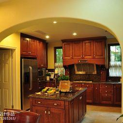 别墅美式风格厨房隔断设计