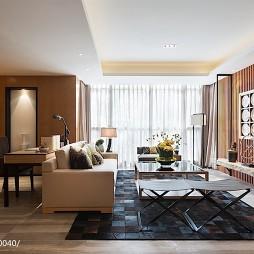 现代中式客厅装修设计