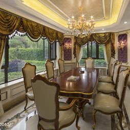 别墅欧式风格餐厅窗户装修