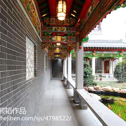 古典中式风格自建别墅过道设计