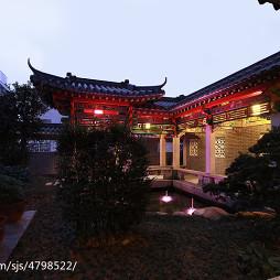 古典中式风格别墅花园装修