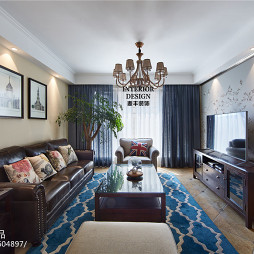 简约美式客厅吊顶设计
