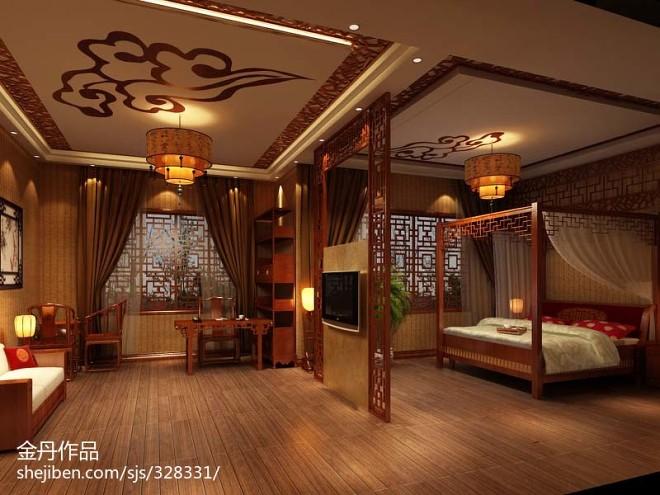 中式别墅会所设计_2083773