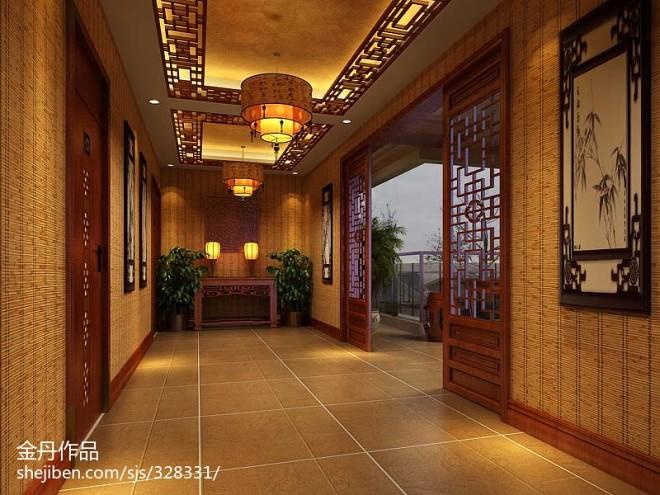 中式别墅会所设计_2083778