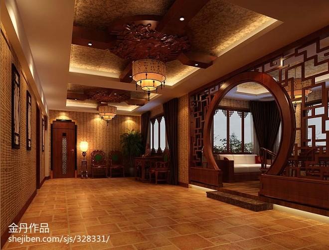 中式别墅会所设计_2083780