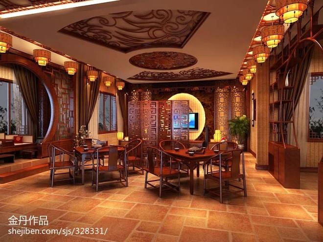 中式别墅会所设计_2083781